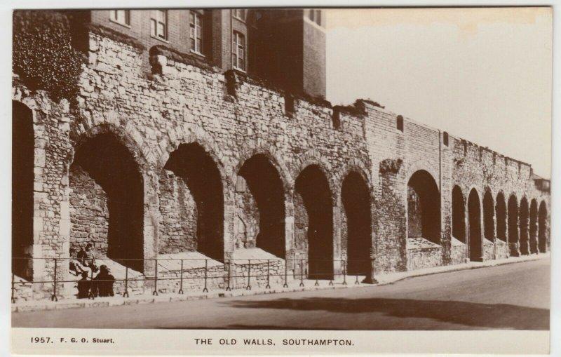 Hampshire; The Old Walls, Southampton RP PPC By FGO Stuart, Unused, c 1910