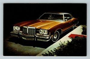 1974 Pontiac Grand Ville 4-Door Hardtop, Automobile Chrome Postcard