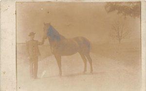 G10/ Occupational RPPC Postcard c1910 Horse Breeder Farm Show 8