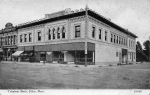 F48/ Dillon Montana Postcard c1910 Telephone Block Stores Restaurant