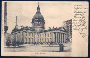 St Louis MO Court House HTL used c1904 World's Fair Cancel