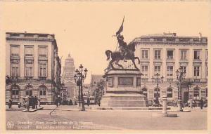 Brussel , Belgium , 1920-30s ; Place Royal et rue de la Regene