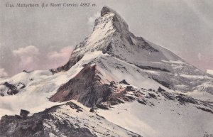 Das Matterhorn Le Mont Cervin Switzerland Old Postcard