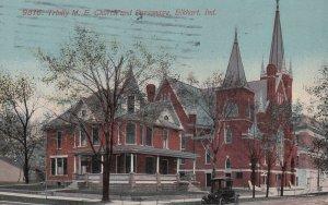 ELKHART, Indiana, PU-1913; Trinity M.E. Church And Parsonage