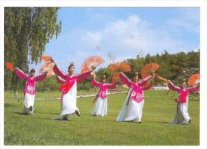 Five Women Doing The Korean Traditional Fan Dance, Korea, South, 1950-1970s