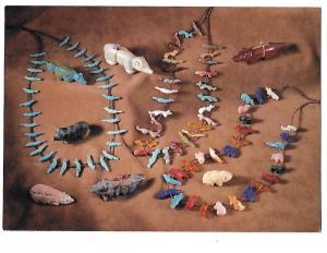 Zuni Fetishes Stone & Shell  Beautiful Jewelry Native American Art 4 by 6 card