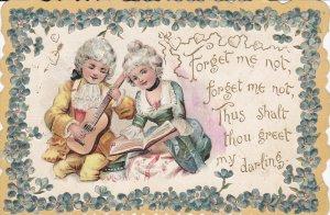 VALENTINE´S DAY, 1900-1910´s; Children, Forget Me Not...
