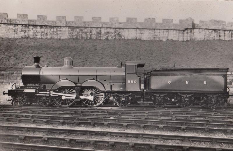 GNR No 990 Henry Oakley Train Doncaster Works Real Photo Postcard