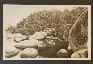 Mint Brazil Rio de Janeiro Scenic View Lake House Mountain Real Picture Postcard