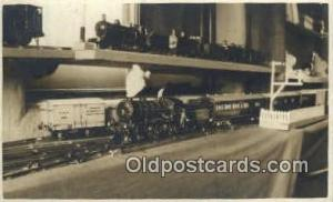 Toy Model Train Railroad, Real Photo Postcard Postcards  Toy Railroad Trains