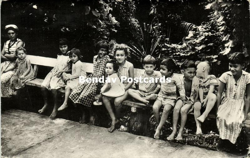 Pitcairn Islands, Youth of Mutineers Descendants (1960s) RPPC