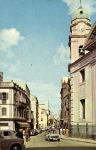 gibraltar, Main Street with Roman Catholic Church, Cars (1968)
