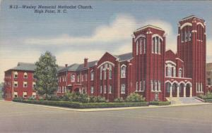 Wesley Memorial Methodist Chapel, High Point, North Carolina 1930-40s