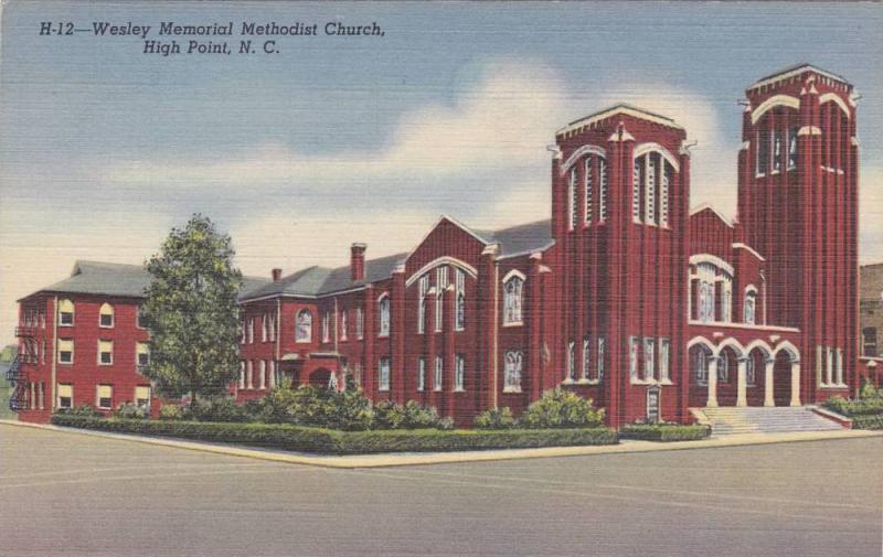 Wesley Memorial Methodist Chapel, High Point, North Carolina 1930-40s