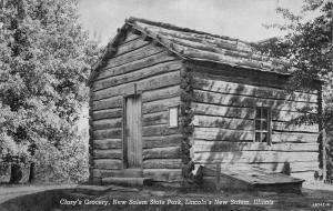 Lincolns New Salem Illinois~Clarys Grocery New Salem State Park~1910 Postcard