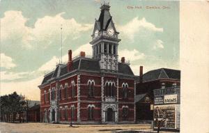 B8/ Crestline Ohio Postcard 1908 City Hall Building 1