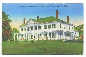 Government House, CHARLOTTETOWN , P.E.I., Canada , 30-40s