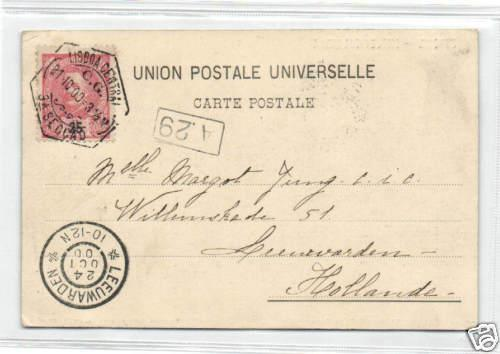 portugal, ESTORIL, Chalet Palmella, Panorama 1900 Stamp