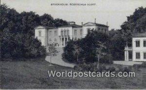 Rosendals Slott, Stockholm Sweden Unused