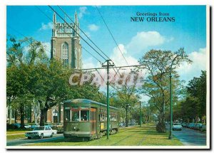 Modern Postcard St. Charles Streetcar New Orleans Louisiana