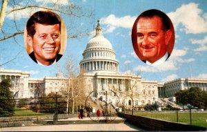 Washington D C President John F Kennedy and Capitol 1961