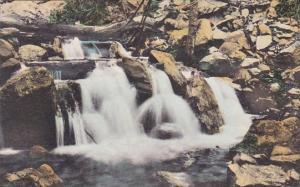 California Camp Baldy Falls In Bear Canyon Handcolored Albertype