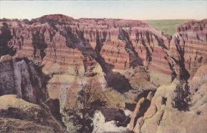 Coyote Canyon The Badlands Nat Monument South Dakota Hand Colored Albertype