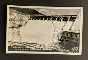 Vintage Transition Towers Grand Coulee Dam Washington RPPC Real Photo