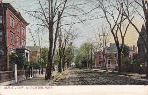 WORCESTER, Massachusetts, 1900-1910s; Elm Street View