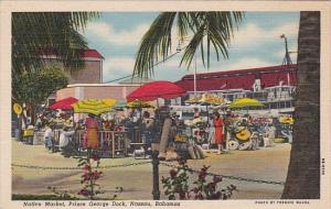 Native Market Prince George Dock Nassau Bahamas Curteich
