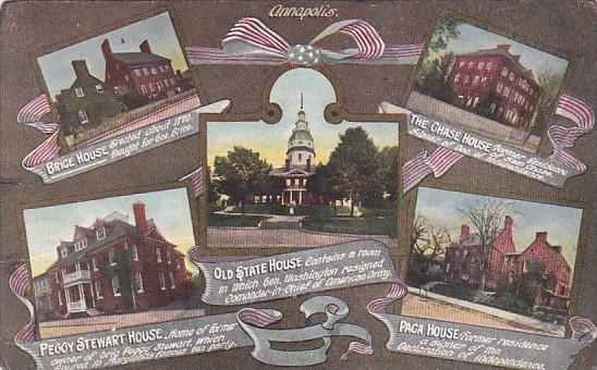 Maryland Annapolis State House Brice House Chase House Peggy Stewart House an...