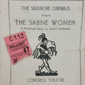 Skidmore College Omnibus The Sabine Women 1924 Congress Theatre Program & Ticket