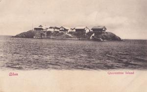 Quarentine Island Yemen Aden Antique Postcard