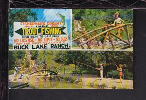 Trout Fishing,Buck Lake Ranch,Angola,IN Postcard