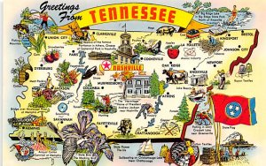 Maps Tennessee USA Unused