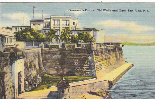 Puerto Rico San Juan Governor's Palace Old Walls and Gate