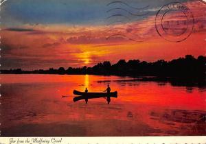 USA Iowa Sunset Hiawathas Boat, Far from the Maddening Crowd
