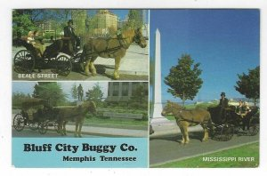 VTG postcard, Bluff City Buggy Co., Memphis, Tennessee