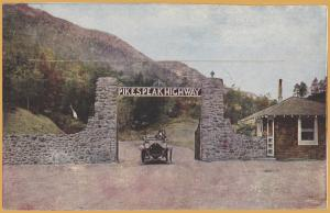 Colorado Springs, Colo., Very early view of the entrance Pike's Peak