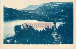 Old Postcard Lake Annecy and Chateau de Luingt Talloires Haute Savoie