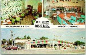 CRAIG, Colorado Postcard THE NEW BLUE BIRD CAFÉ Texaco Gas Station c1960s Unused
