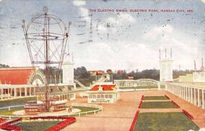 Kansas City Missouri Electric Park Swing Antique Postcard K47374
