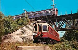 Relic Trolley Museum South Elgin Illinois Car #316 & Amtrak Blackhawk, Chrome