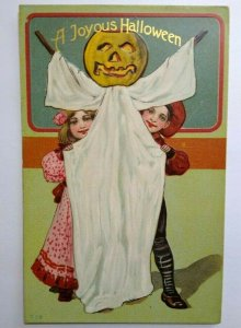 Vintage Halloween Postcard Paul Finkenrath Series 778 Embossed Original Unused