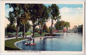 Lake, Patterson Park, Baltimore MD