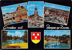 Netherlands Groeten uit Bergen op Zoom Town Hall Auto Vintage cars