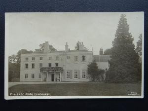 Hampshire Lyndhurst FOXLEASE HALL & PARK c1914 RP Postcard by Davis Hounsdown