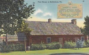 Pennsylvania Bethlehem Memorial House First House In Bethlehem