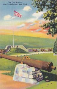 New York Fort Ticonderoga The Flag Bastion Curteich