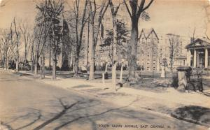 East Orange New Jersey~South Munn Avenue~Elks Home~1930s B&W Litho Postcard